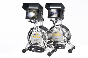 minCam MC15 portable push camera sets side by side with KK18 and KK13 Camera Heads