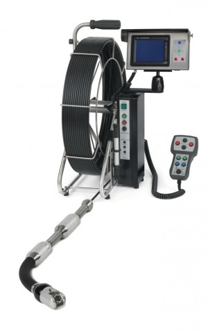 RiFlexio articulating push camera for inspection of pipe turn-offs
