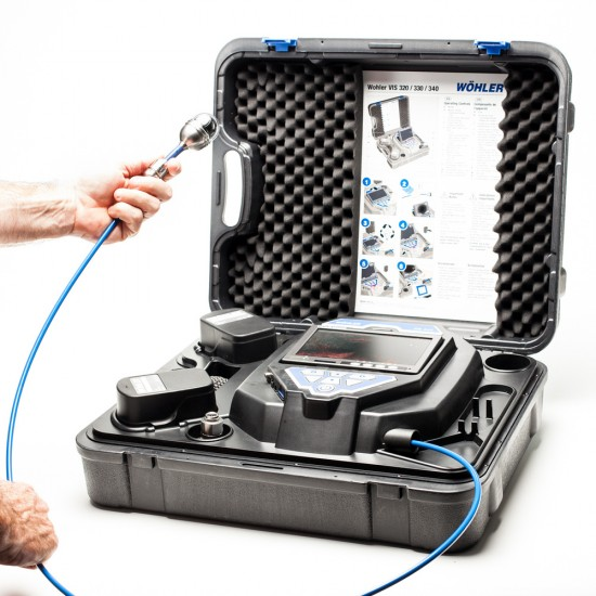 Wohler Vis 340 Inspection Camera Rental with 100 ft flexible push rod cable