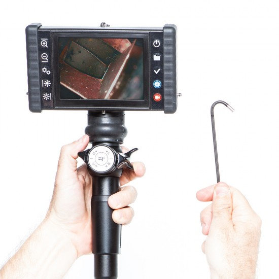iRis DVR X Videoscope, Hand held and portable with 4-Way Articulation