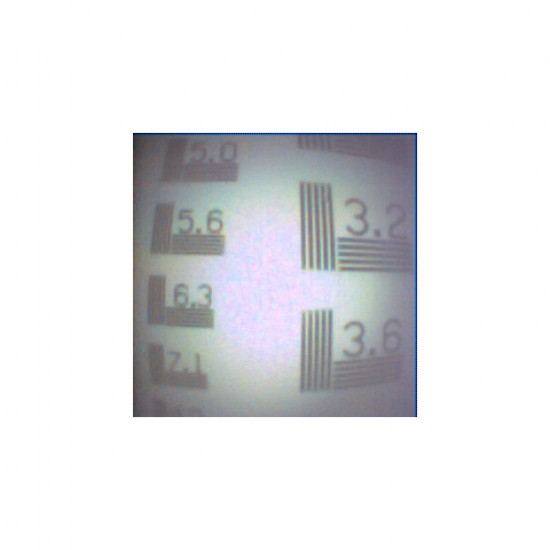 CoreView 2.7mm Videoscope resolution test chart