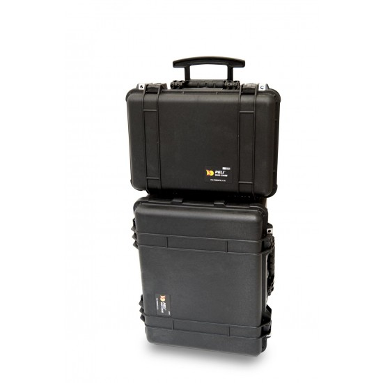 Ultra portable industrial robotic crawler inspection camera system storage and transport cases